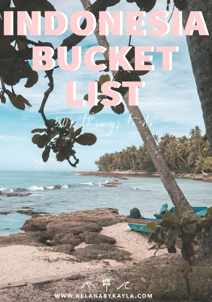 Indonesia Bucket List