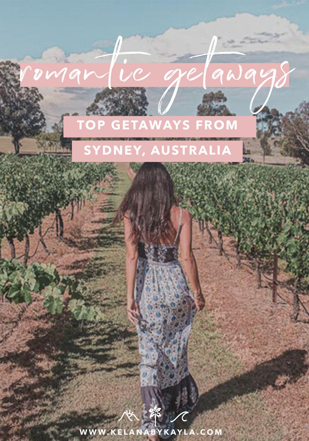 romantic weekend getaways sydney